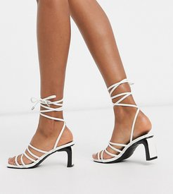 Nola strappy statement heel sandals in white