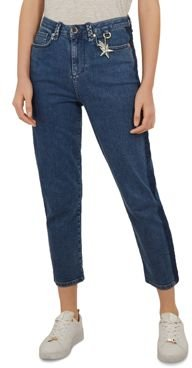 Colour by Numbers Eruca High Waist Straight Jeans in Mid Wash