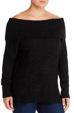 Off-the-Shoulder Boucle Sweater - 100% Exclusive