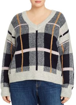 Plaid V-Neck Sweater - 100% Exclusive