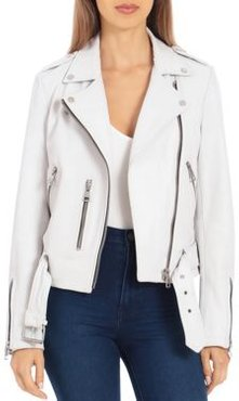 Bagatelle. nyc Belted Leather Biker Jacket