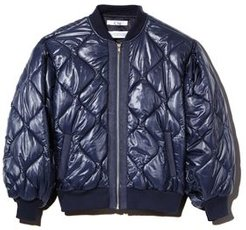 Too Quilted Balloon-Sleeve Bomber Jacket