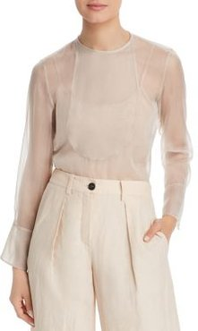 Emporio Armani Sheer Silk Blouse