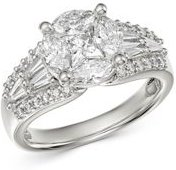 Fancy-Cut Diamond Statement Ring in 18K White Gold, 1.85 ct. t.w. - 100% Exclusive