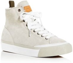 Shearling High-Top Sneakers