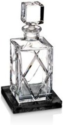 Olann Decanter Square with Marble Coaster