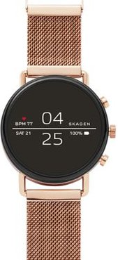Falster 2 Rose Gold-Tone Mesh Smartwatch, 40mm