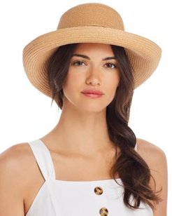Braided-Trim Sun Hat