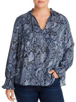 Ruffle-Trimmed Blouse - 100% Exclusive