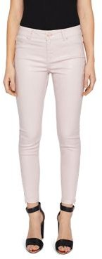 Katarie Coated Skinny Jeans in Baby Pink