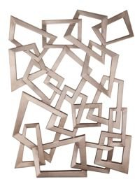 Company Wall Hanging Silver Sculpture