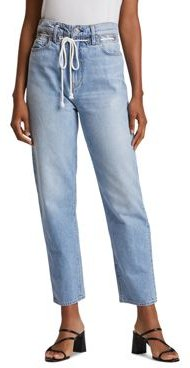 Elly Extreme High-Waist Cropped Straight Jeans in Skylines