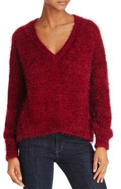 V-Neck Fuzzy Sweater - 100% Exclusive