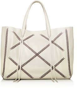 Iconic Cross-Stitch Leather Tote