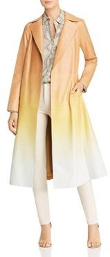 Avrielle Ombre Leather Trench Coat