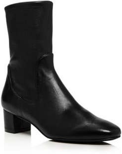 Ernestine Mid-Calf Leather Boots