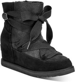 Classic Femme Lace-Up Booties