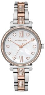 Sofie Heart-Accented Link Bracelet Watch, 36mm