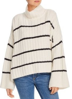 Talia Striped Poncho Sweater