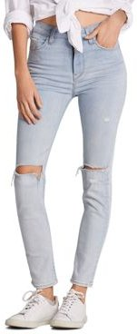 Holly High-Rise Skinny Ankle Jeans in Tempo