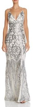 Plunging Sequined Gown - 100% Exclusive
