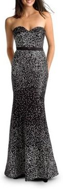Confetti Sequin Strapless Sweetheart Gown