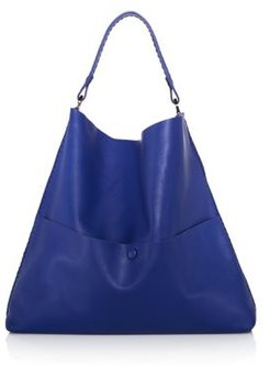 Grace Slim Leather Hobo Tote
