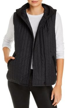 Mixed-Media Hooded Vest