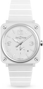 Br S White Ceramic Watch, 39mm