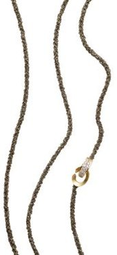 18K Yellow Gold Matera Chain and Cognac Diamond Necklace, 42