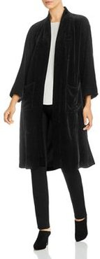 Velvet Open Duster Jacket
