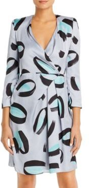 Emporio Armani Brushstroke Faux-Wrap Dress