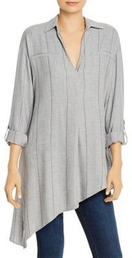 Striped Asymmetric-Hem Top