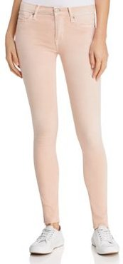 Mid-Rise Cropped Skinny Jeans in Rosewater