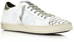 John Mixed Media Lace-Up Sneakers