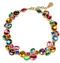 Multi Crystal Necklace, 18