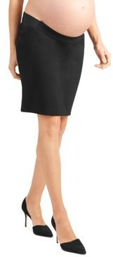 Maternity Ponte Knit Pencil Skirt