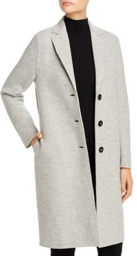Boiled Virgin Wool Coat