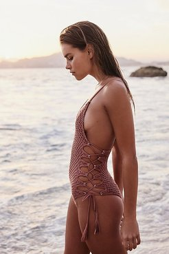 Crochet Florence One-Piece Swimsuit by Acacia at Free People
