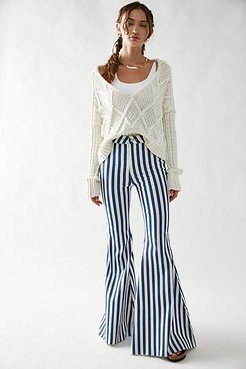 Just Float On Printed Flare Jeans by We The Free at Free People