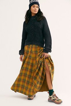 Lily Flannel Maxi Skirt by CP Shades at Free People