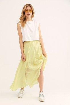 Lily Cotton Silk Maxi Skirt by CP Shades at Free People