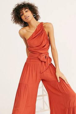 Maggie One Shoulder Dress Set at Free People