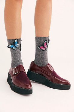 A Flutter Glitter Socks by High Heel Jungle at Free People