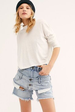 Double Legends High Waist Short by OneTeaspoon at Free People Denim