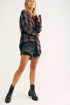 Nirvana Plaid Tunic by CP Shades at Free People