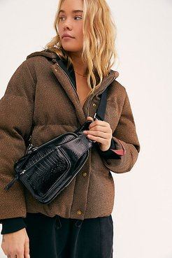 Hudson Croc Embossed Sling Bag by FP Collection at Free People