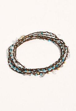 Crowned Crystal Wrap Bracelet by Feathered Soul at Free People