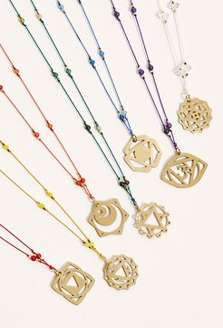 Delicate Chakra Thread Necklace at Free People