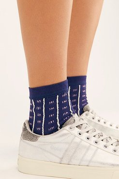 Textured Dobby Crew Socks by Hansel From Basel at Free People